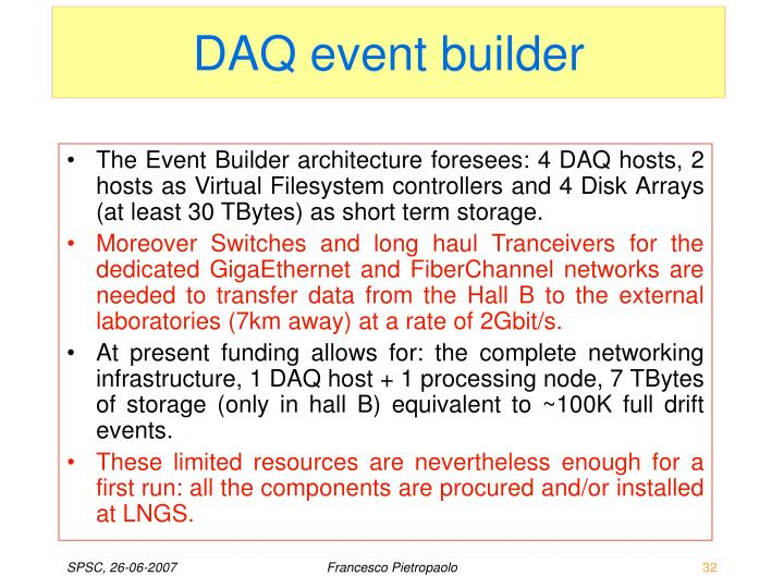 DAQ event builder