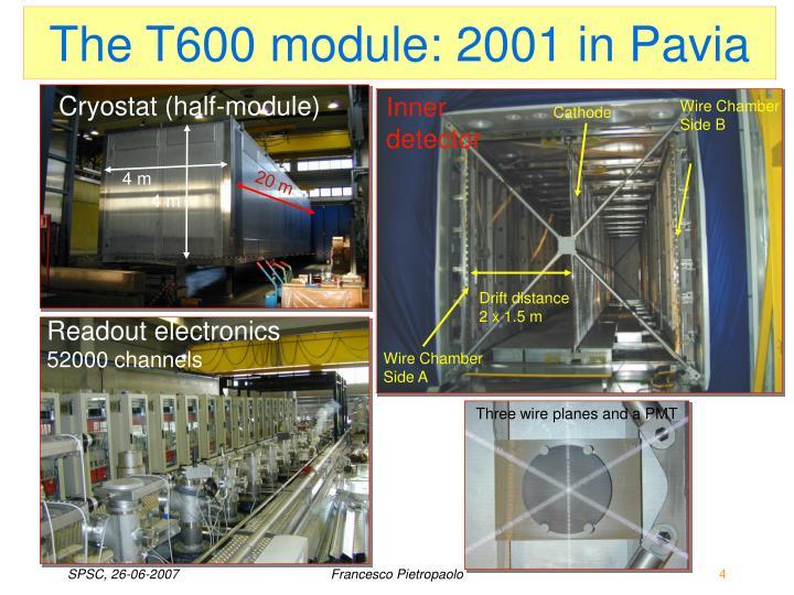 The T600 module: 2001 in Pavia
