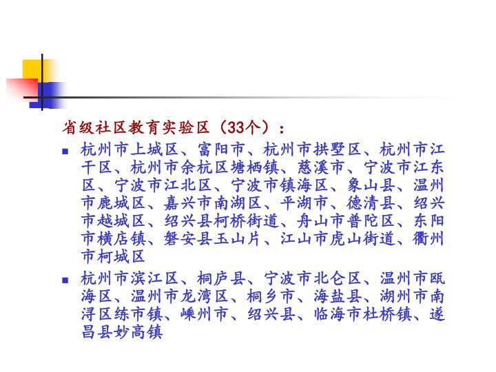 省级社区教育实验区(
