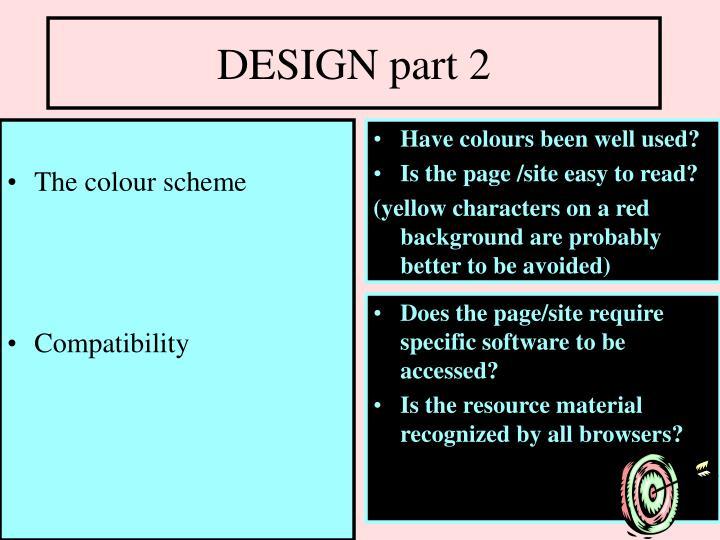 The colour scheme