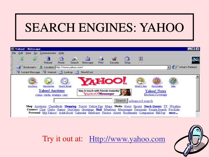 SEARCH ENGINES: YAHOO