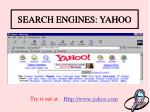 search engines yahoo