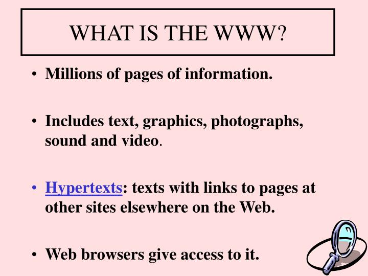 WHAT IS THE WWW?