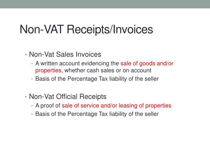 Non-Vat Sales Invoices