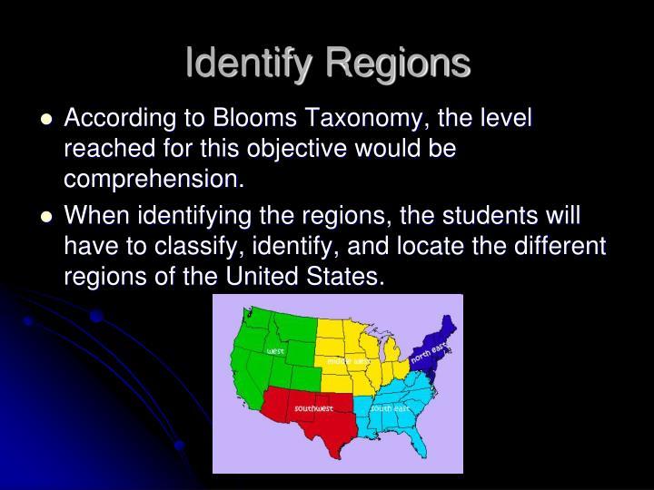 Identify Regions