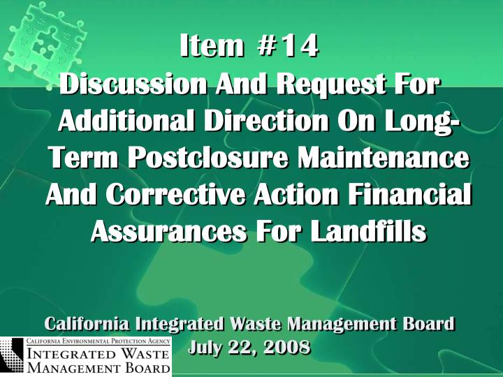 California integrated waste management board july 22 2008