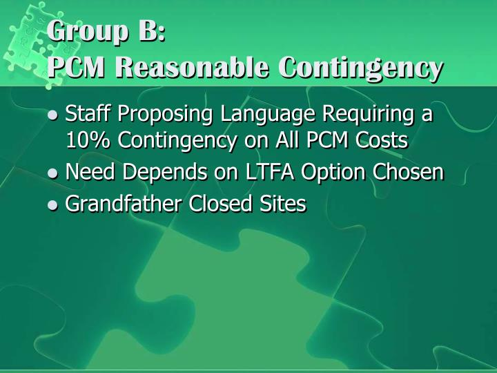 Group B: