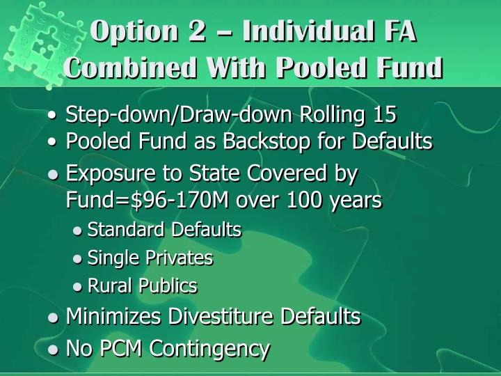Option 2 – Individual FA Combined With Pooled Fund