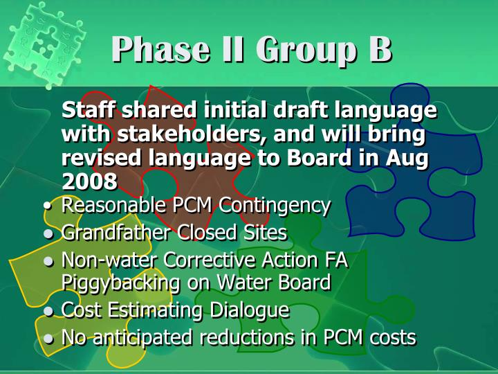 Phase ii group b