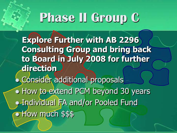 Phase II Group C