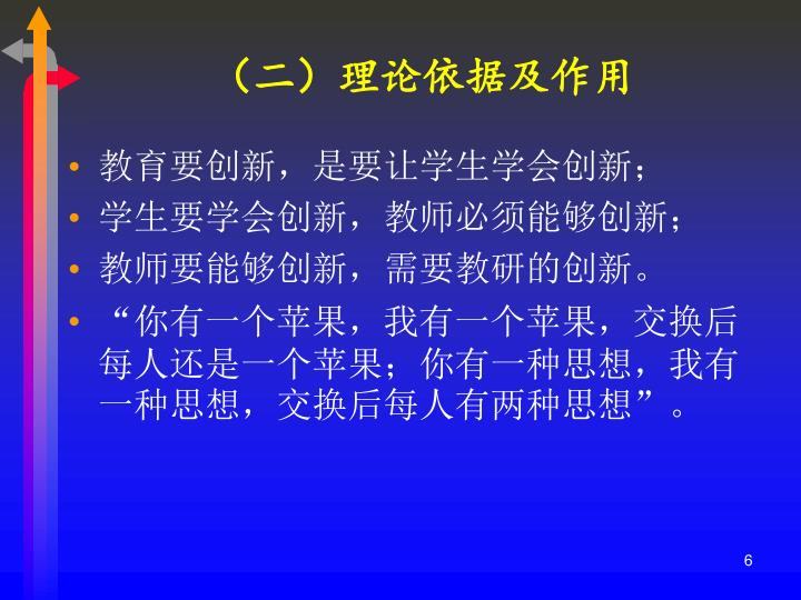 (二)理论依据及作用