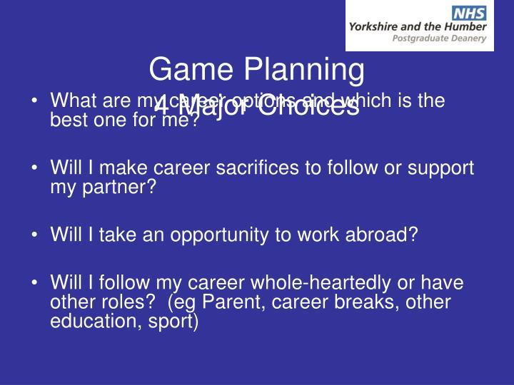 Game Planning