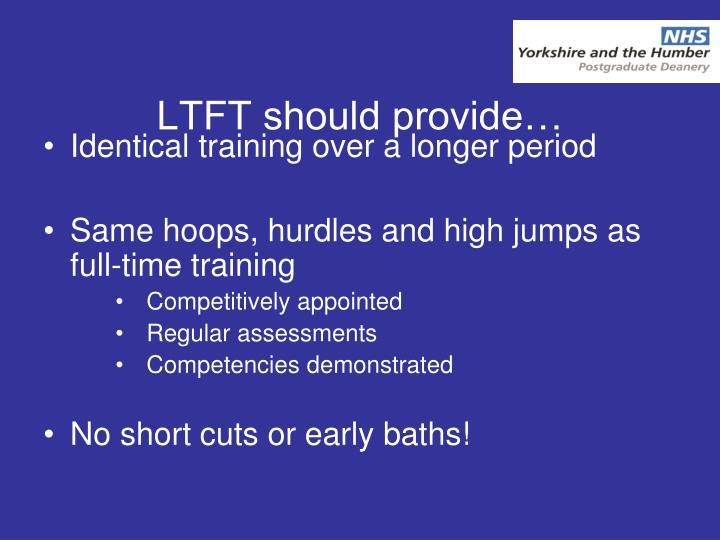 LTFT should provide…