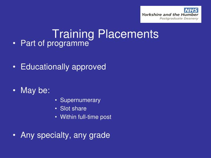 Training Placements