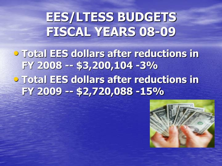 EES/LTESS BUDGETS