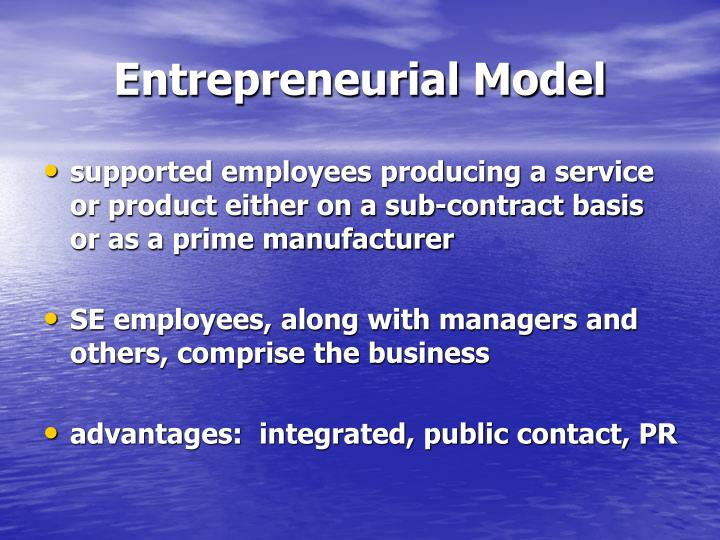 Entrepreneurial Model