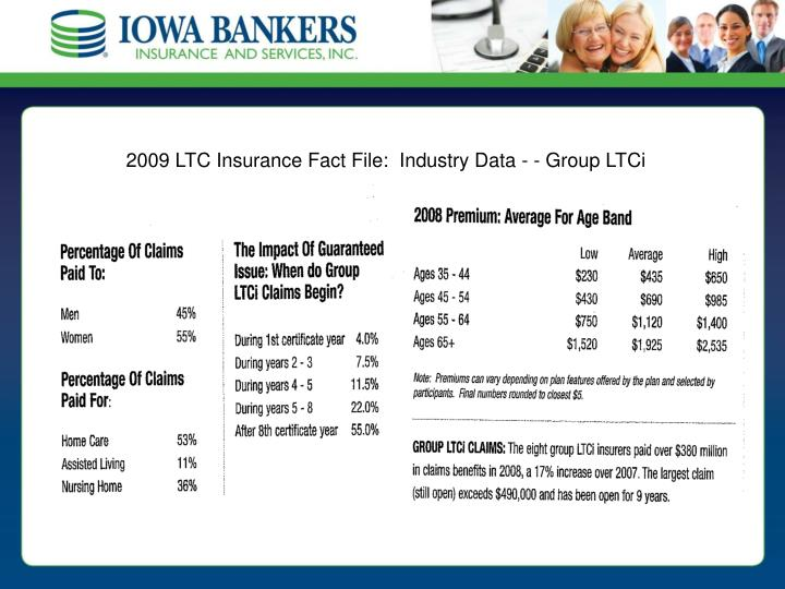 2009 LTC Insurance Fact File:  Industry Data - - Group LTCi