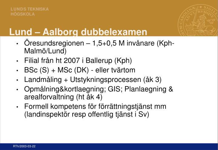 Lund – Aalborg dubbelexamen