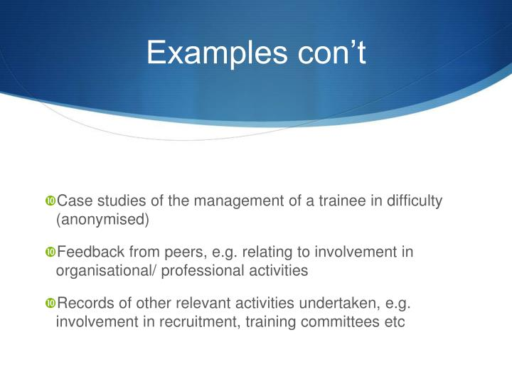 Case studies of the management of a trainee in difficulty (anonymised)