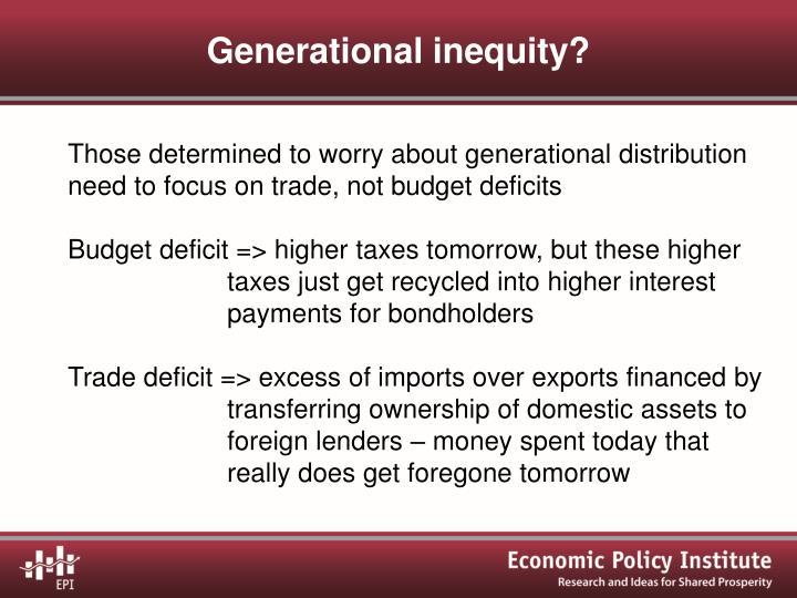 Generational inequity?