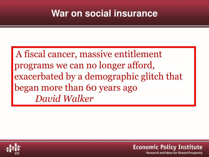 War on social insurance