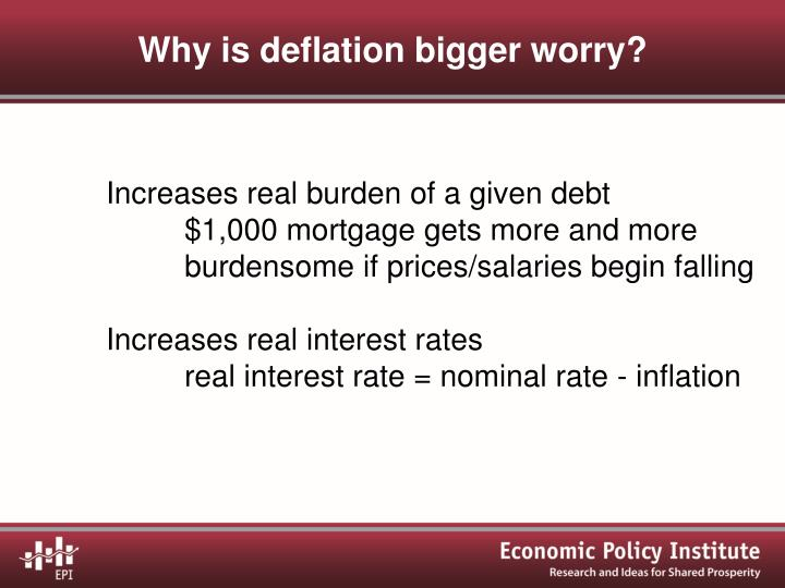Why is deflation bigger worry?