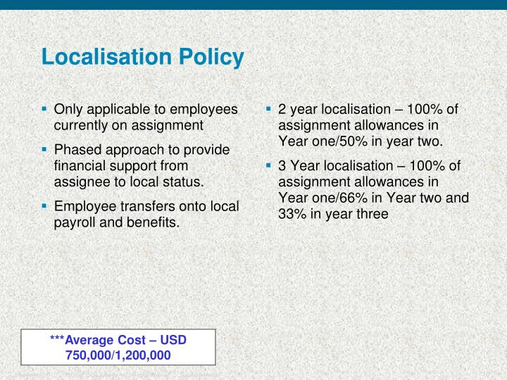 Localisation Policy