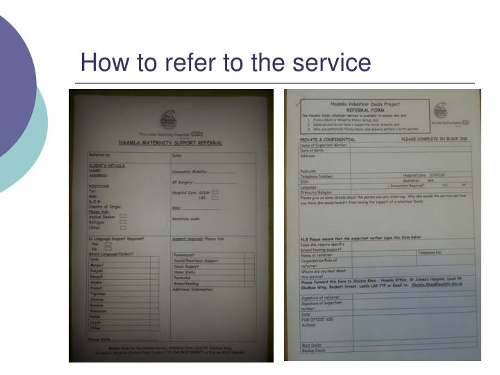 How to refer to the service