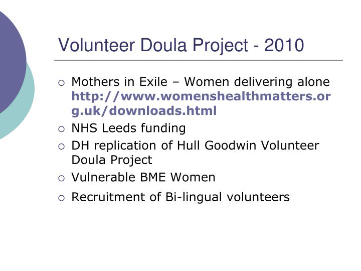 Volunteer Doula Project - 2010