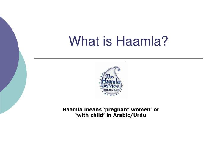 What is haamla