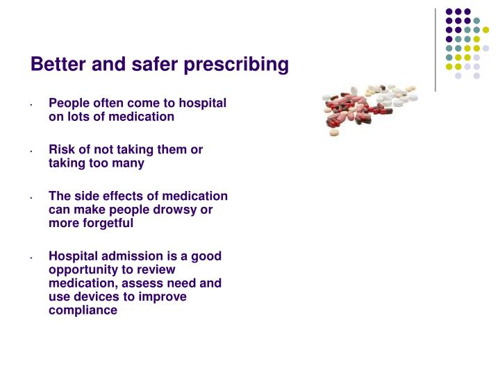 Better and safer prescribing