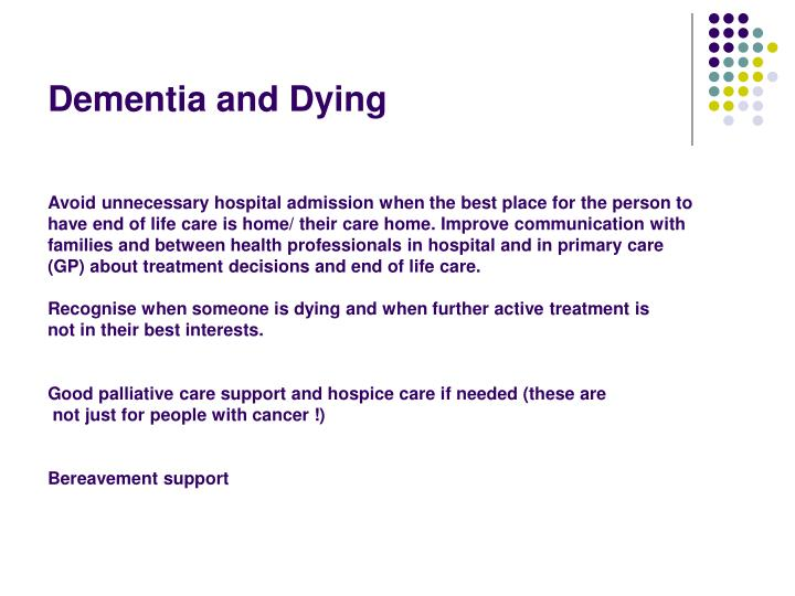 Dementia and Dying