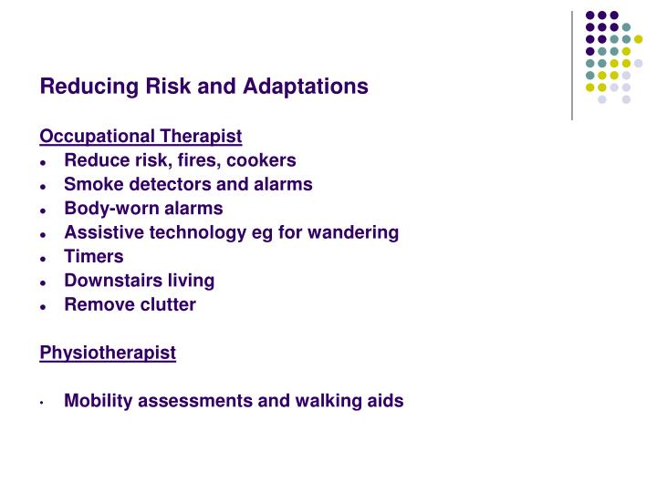 Reducing Risk and Adaptations
