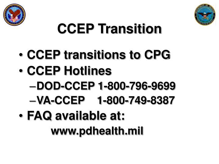 CCEP Transition