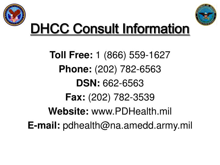 DHCC Consult Information