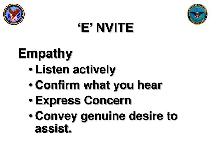 'E' NVITE