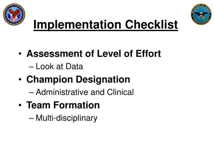 Implementation Checklist