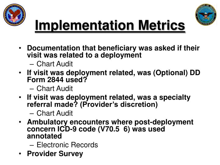 Implementation Metrics