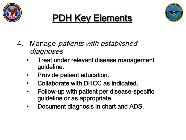 PDH Key Elements