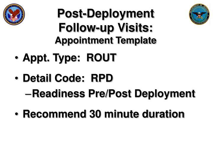 Post-Deployment