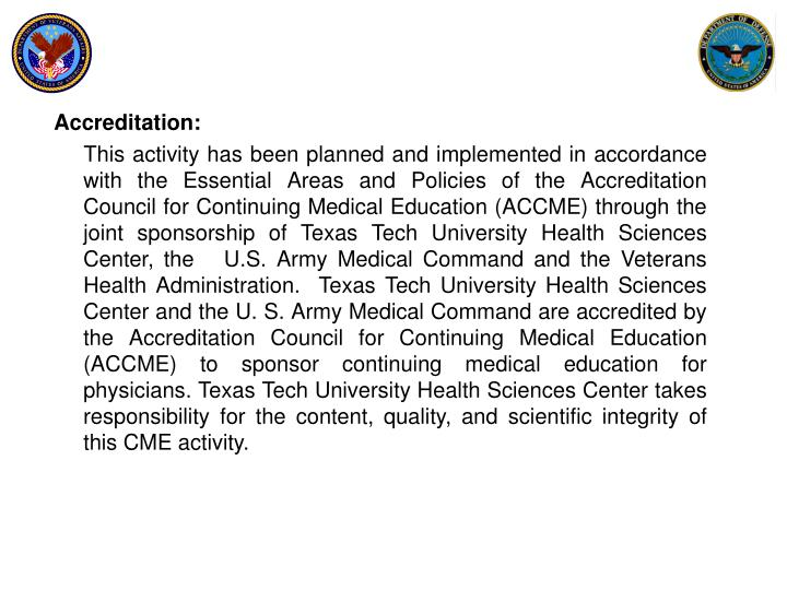 Accreditation: