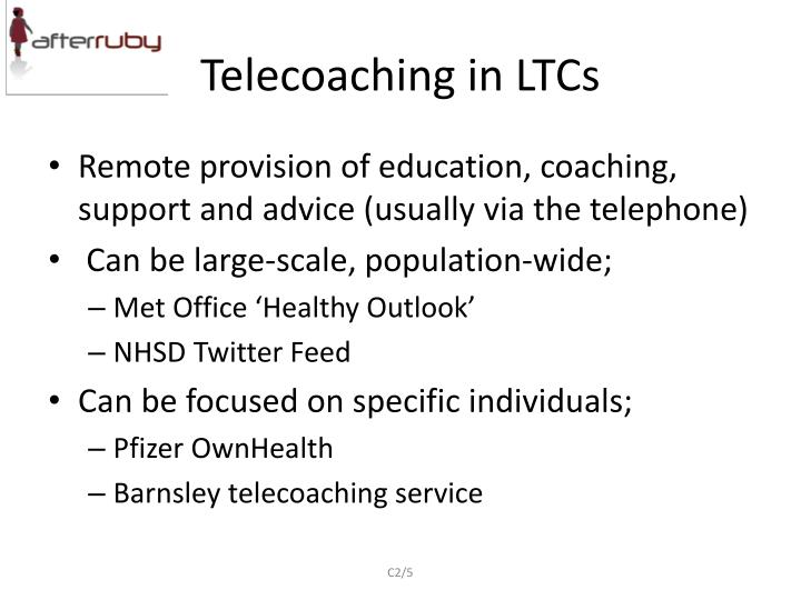 Telecoaching in LTCs
