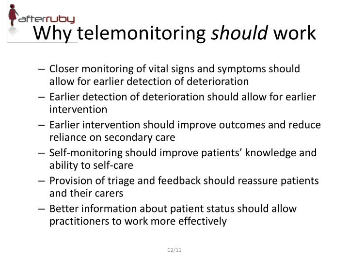 Why telemonitoring