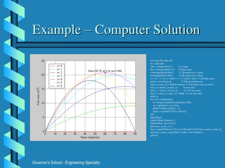 Example – Computer Solution