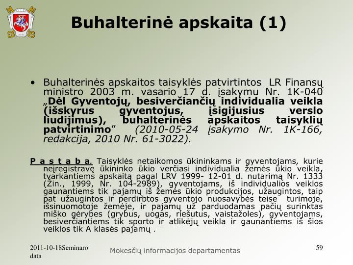 Buhalterinė apskaita (1)