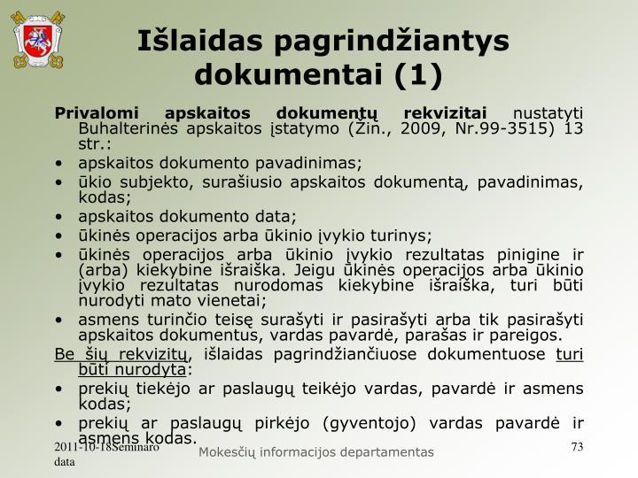 Išlaidas pagrindžiantys dokumentai (1)