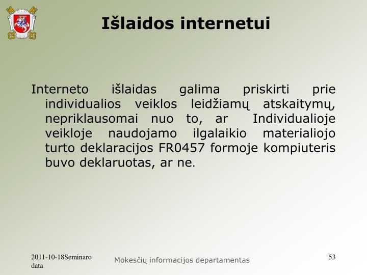 Išlaidos internetui