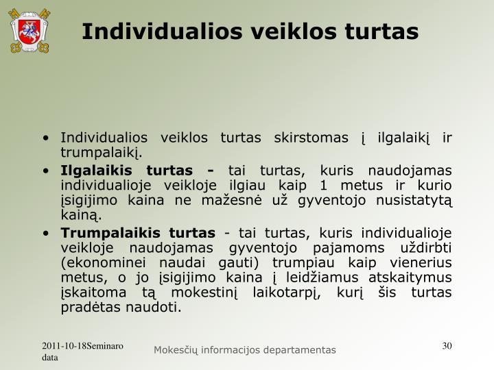 Individualios veiklos turtas