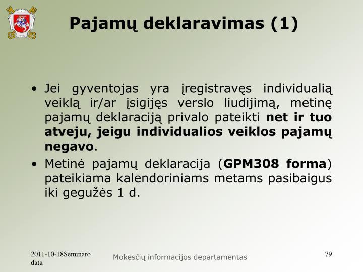 Pajamų deklaravimas (1)