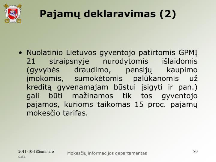 Pajamų deklaravimas (2)
